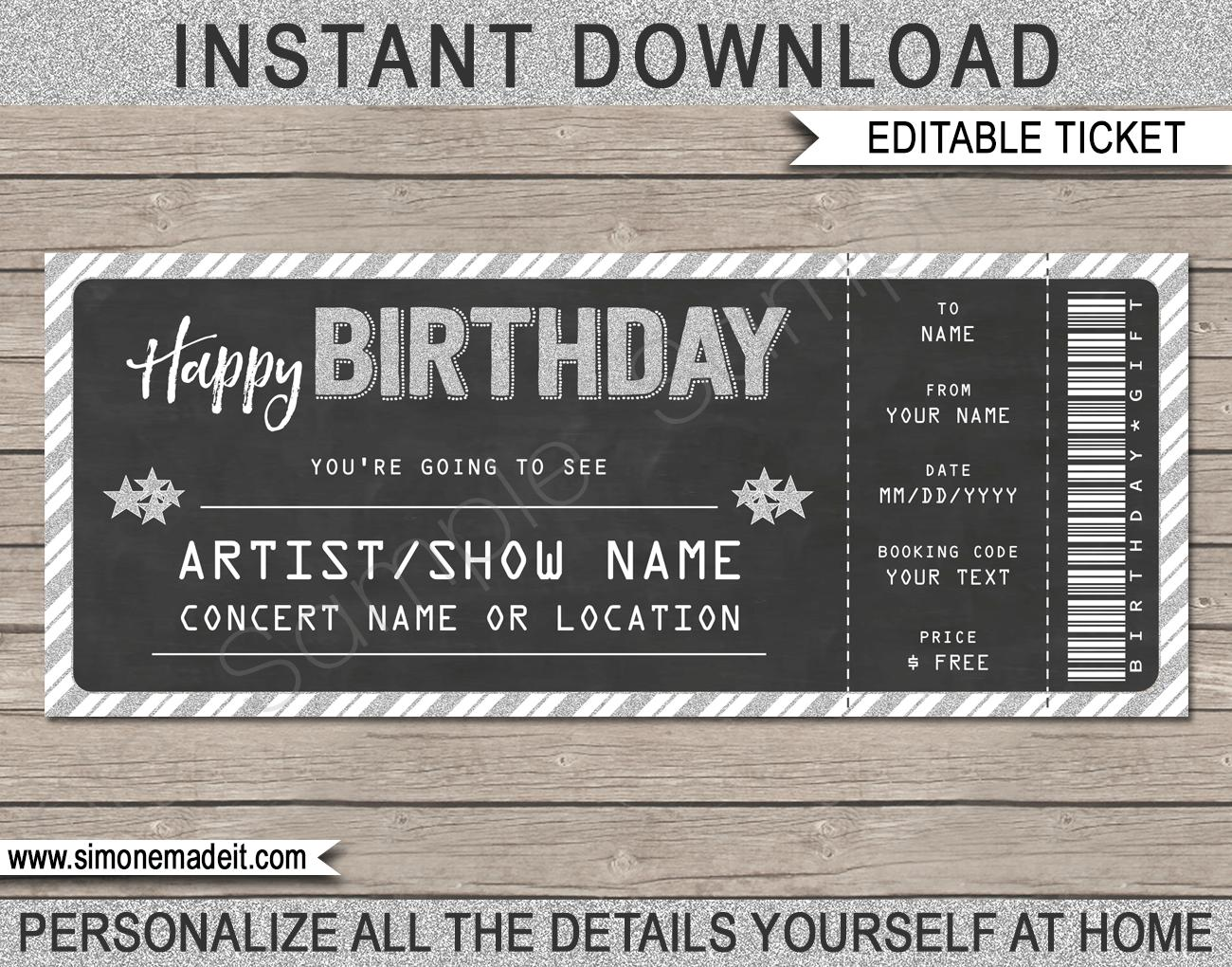 Concert Tickets Template