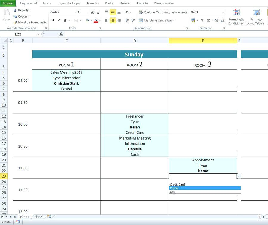 Conference Room Booking System Template