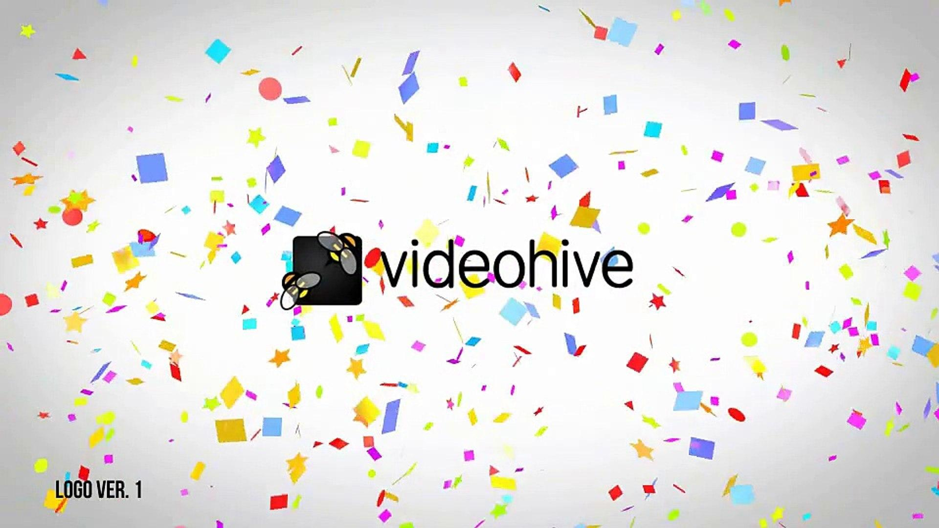 Confetti Logo Reveal Videohive Free Download After Effects Template