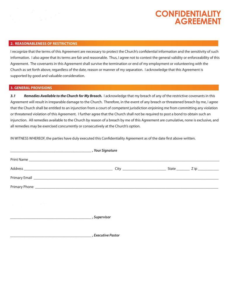 Confidentiality Consent Form Template