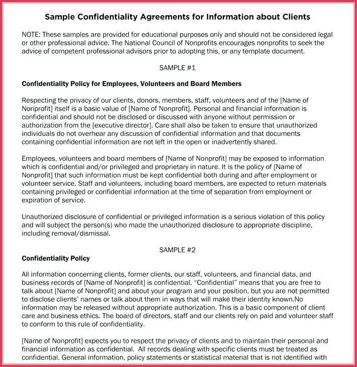 Confidentiality Policy Template Australia