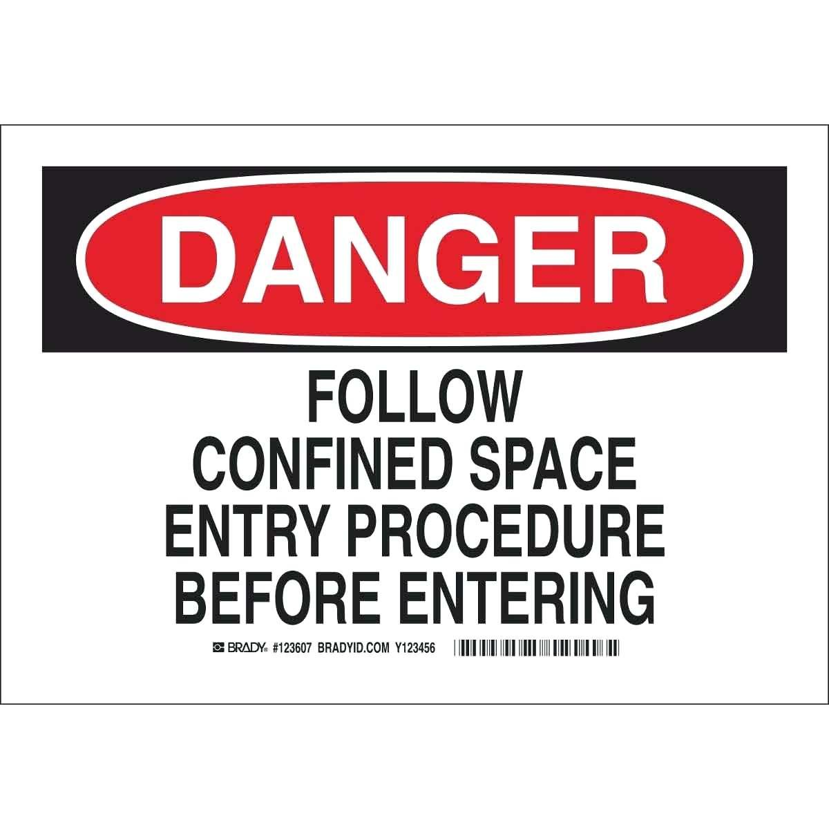 Confined Space Procedure Template