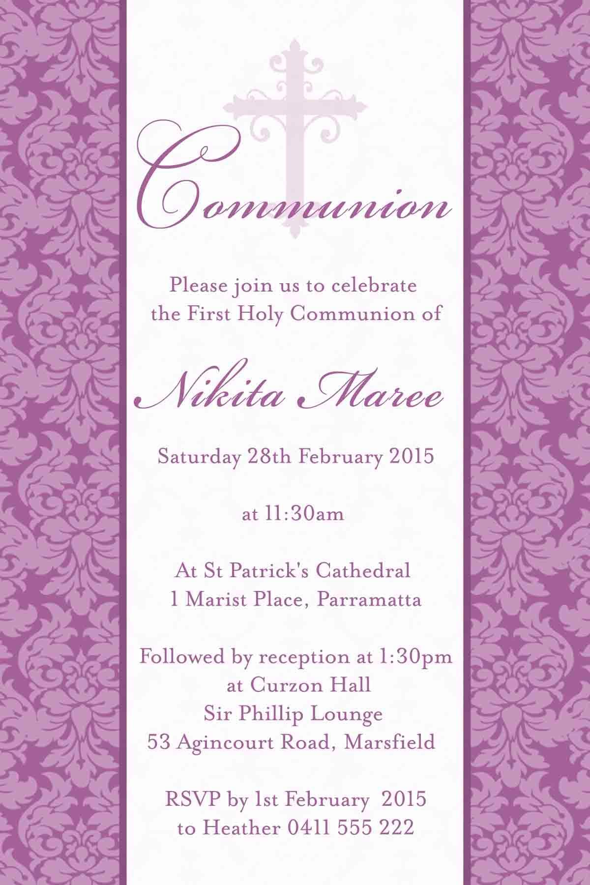 Confirmation Invitation Designs