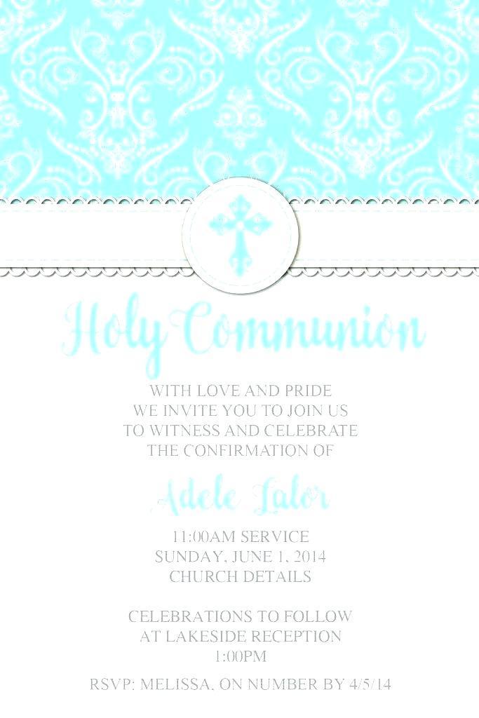 Confirmation Invitation Samples