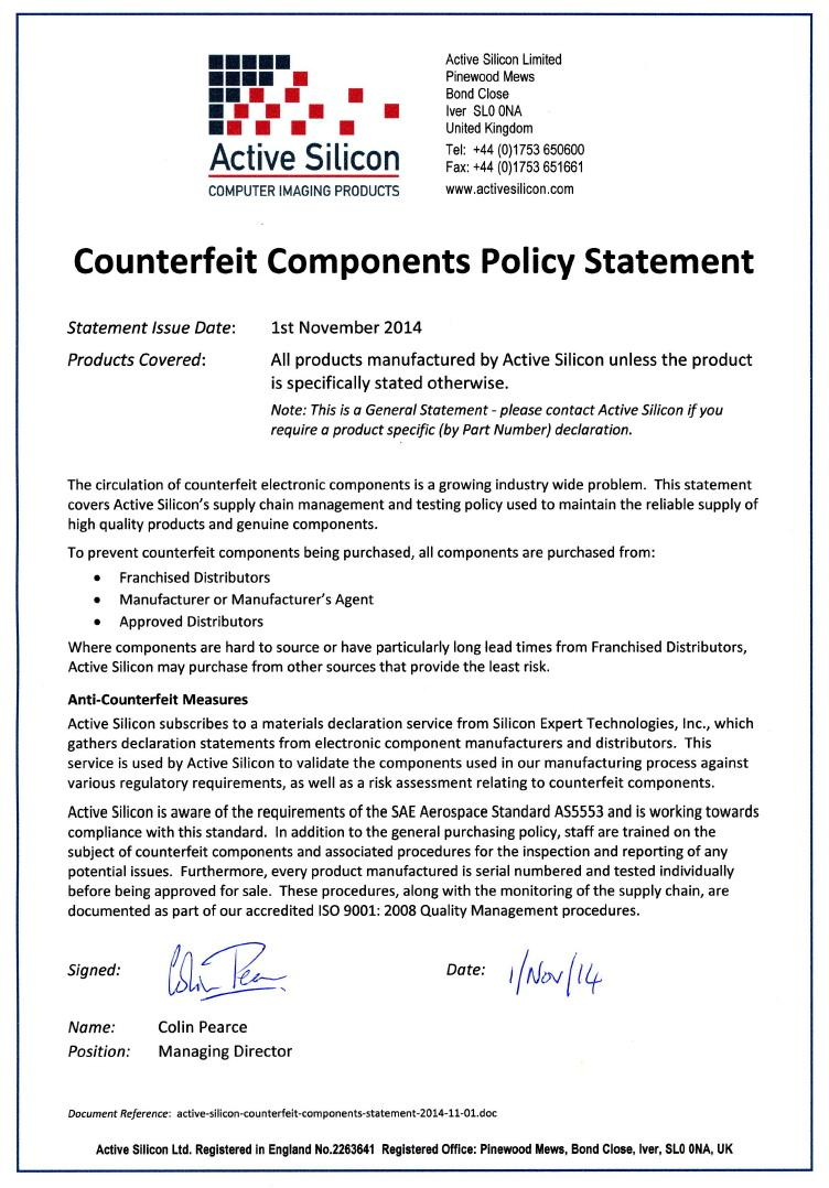 Conflict Minerals Policy Statement Example