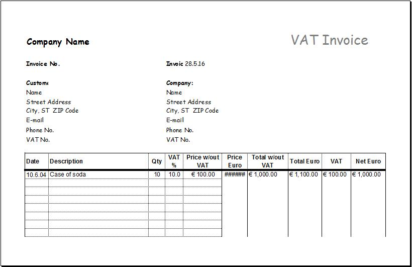 Consignment Sales Invoice Template