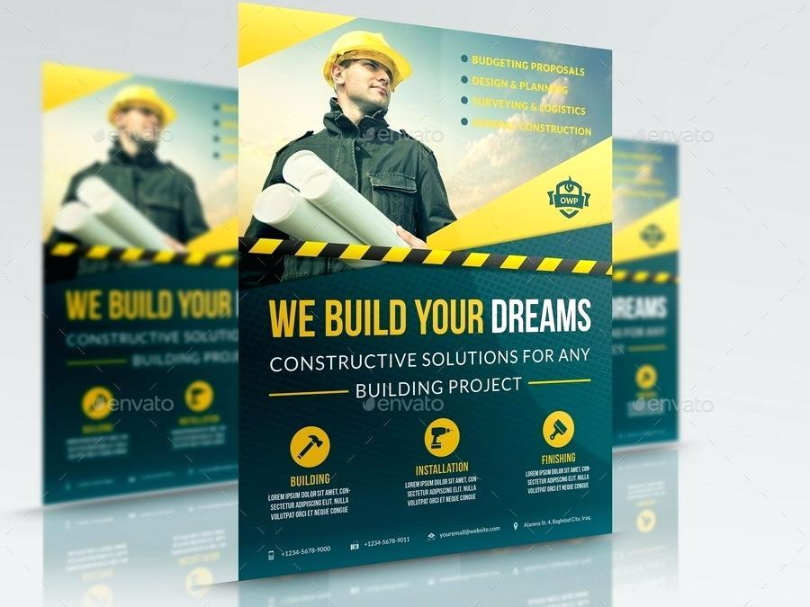 Construction Business Flyer Templates Free