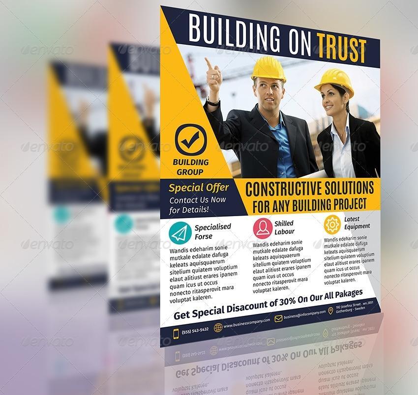 Construction Business Flyer Templates