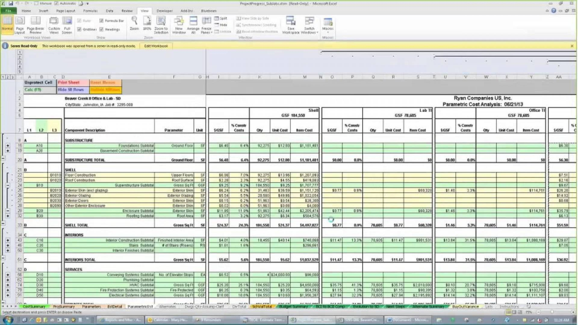 Construction Cost Estimate Excel Template