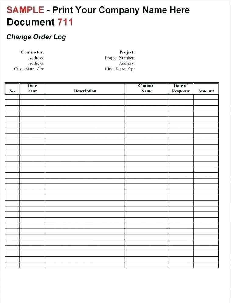 Construction Daily Log Report Template