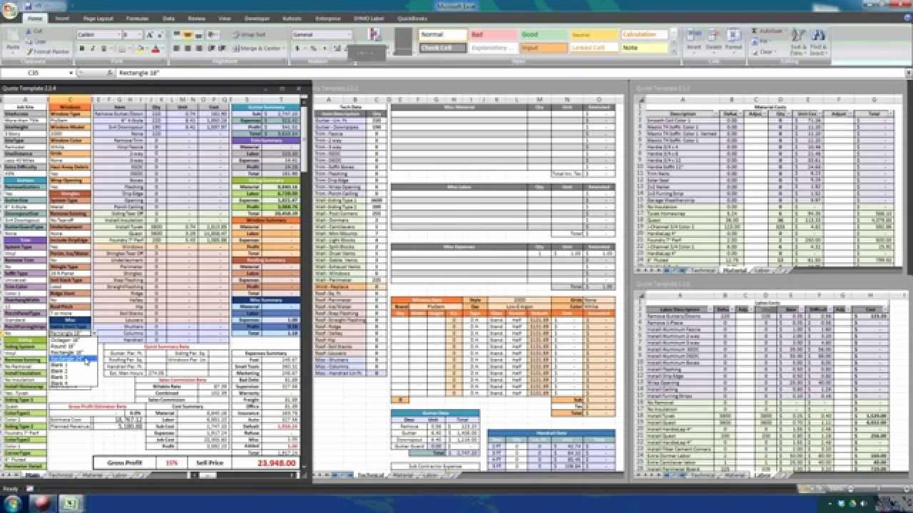 Construction Estimate Template Free Excel