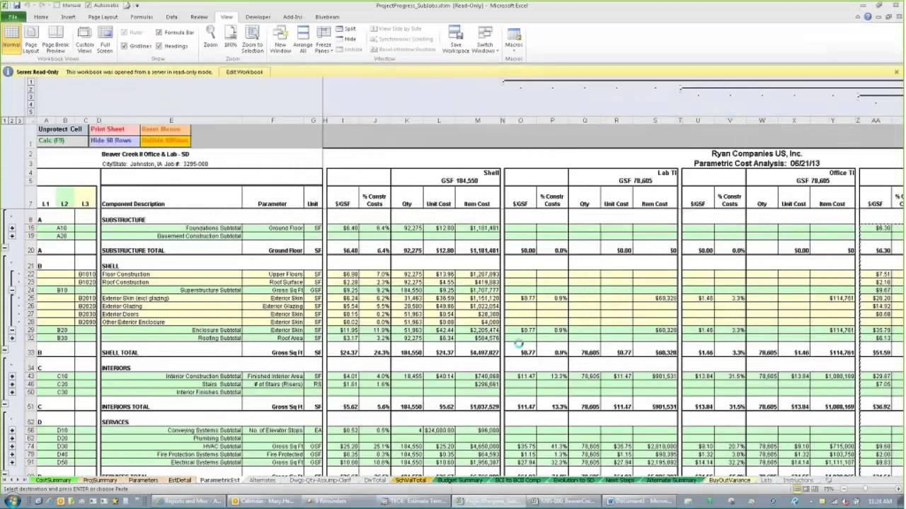 Construction Estimating Template Free