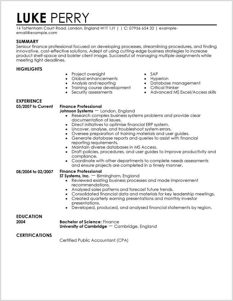Construction Management Resume Templates