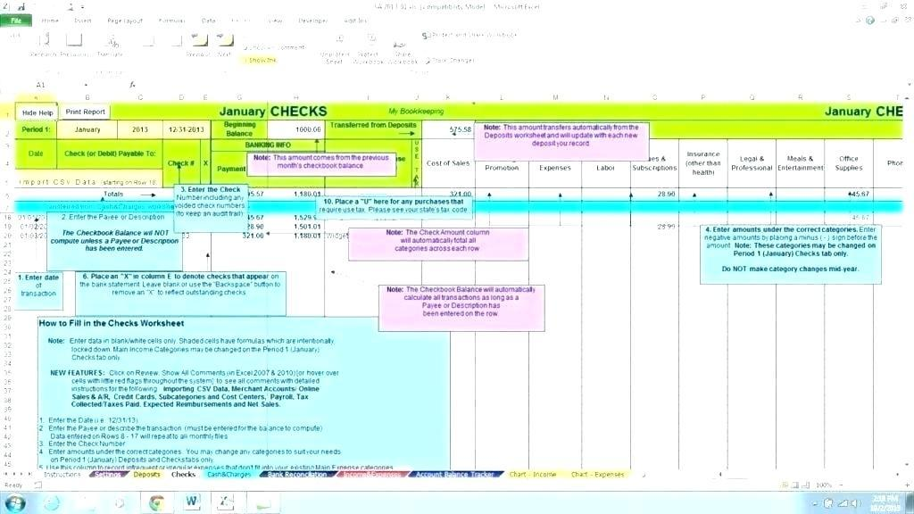 Construction Project Accounting Template Excel