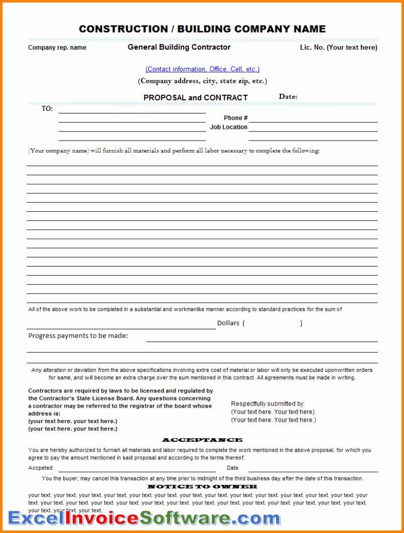 Construction Proposal Document