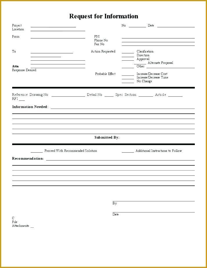 Construction Rfi Document Template