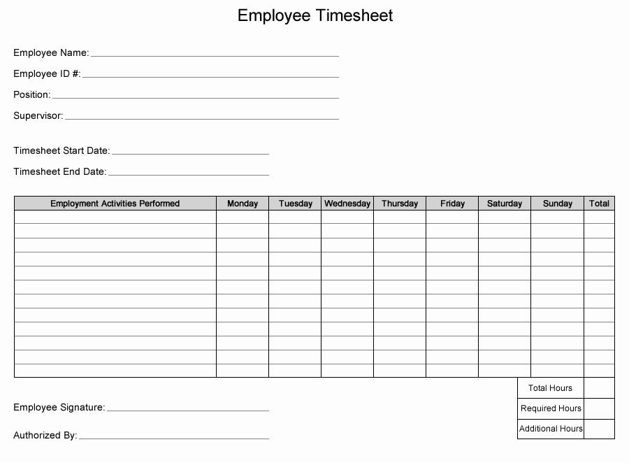 Construction Timesheet Template Free