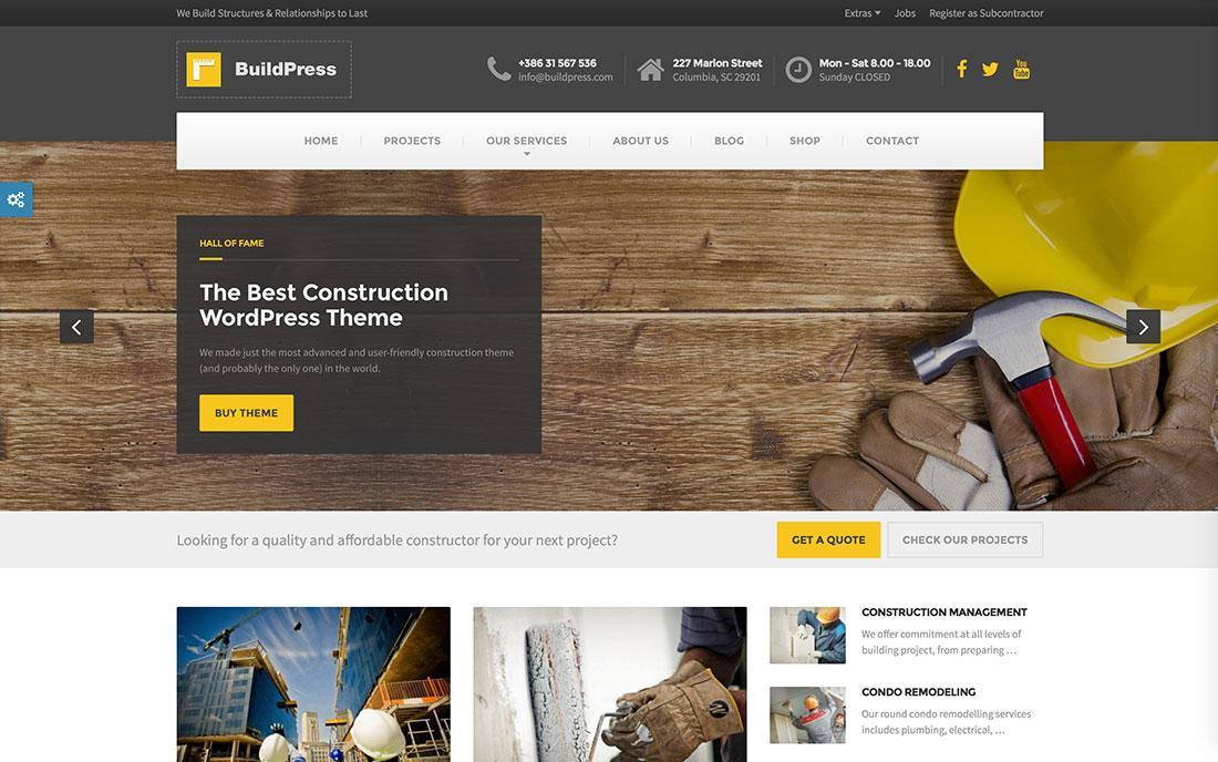 Construction Websites Templates