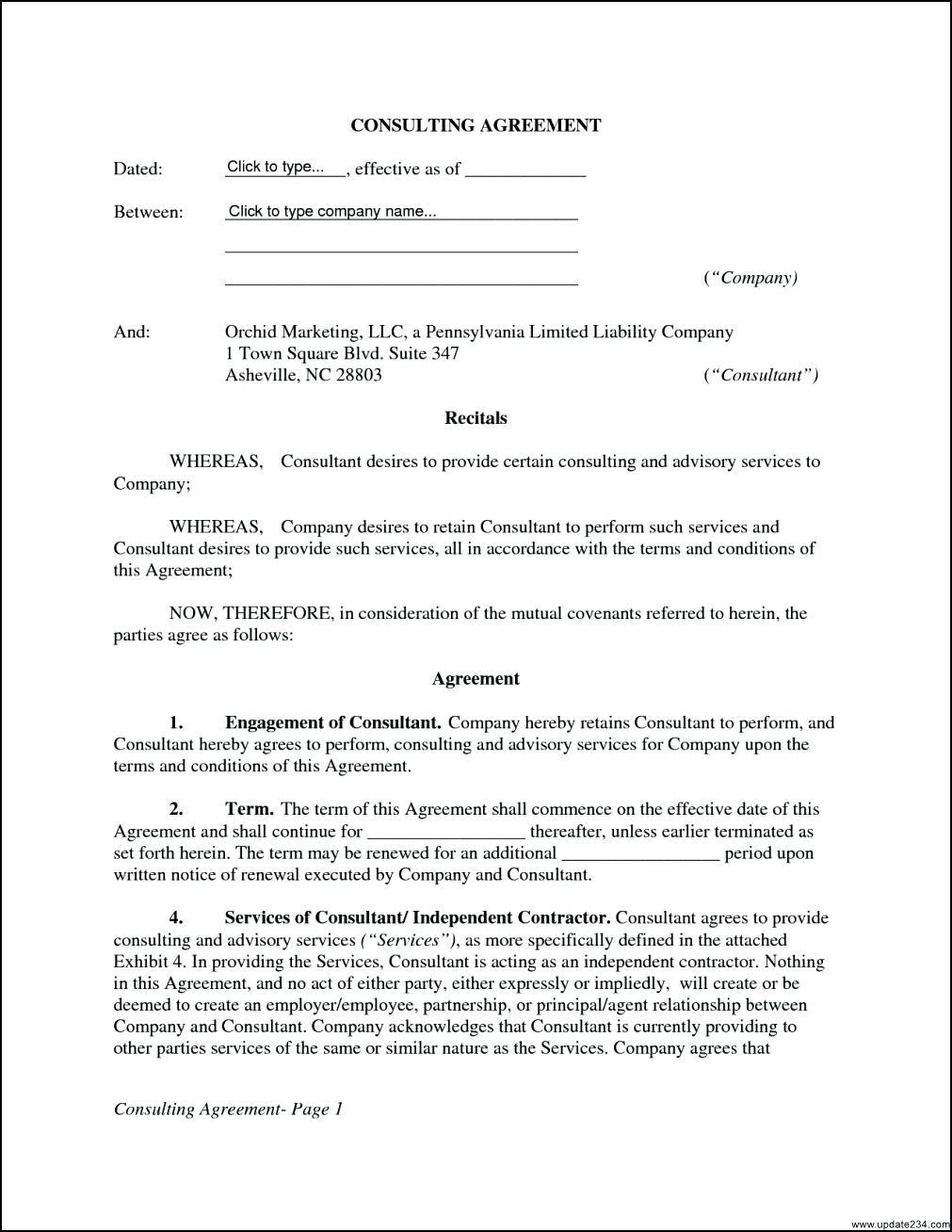 Consultancy Agreement Template Nsw