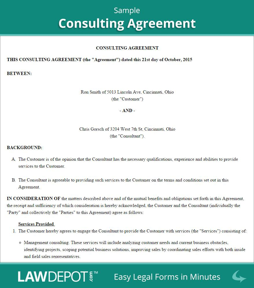 Consultancy Agreement Template South Africa