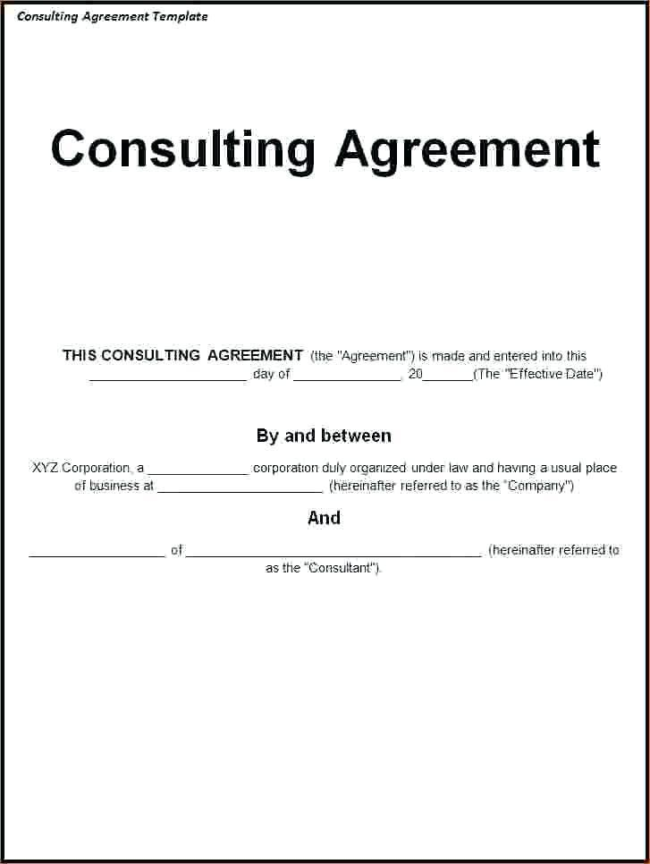 Consulting Contract Template Pdf