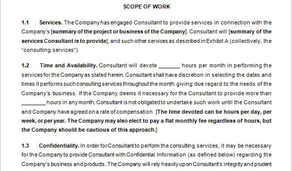 Consulting Contract Templates Free