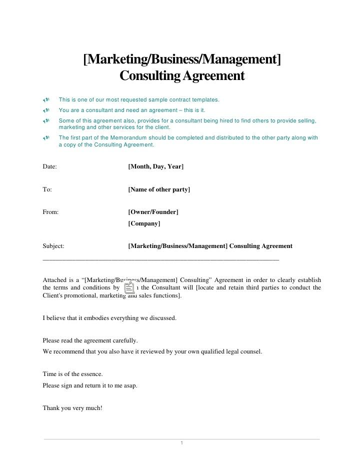 Consulting Fee Agreement Template