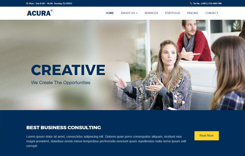 Consulting Websites Templates Free Download