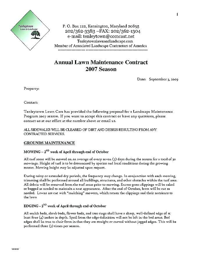 Contract For Contractors Sample