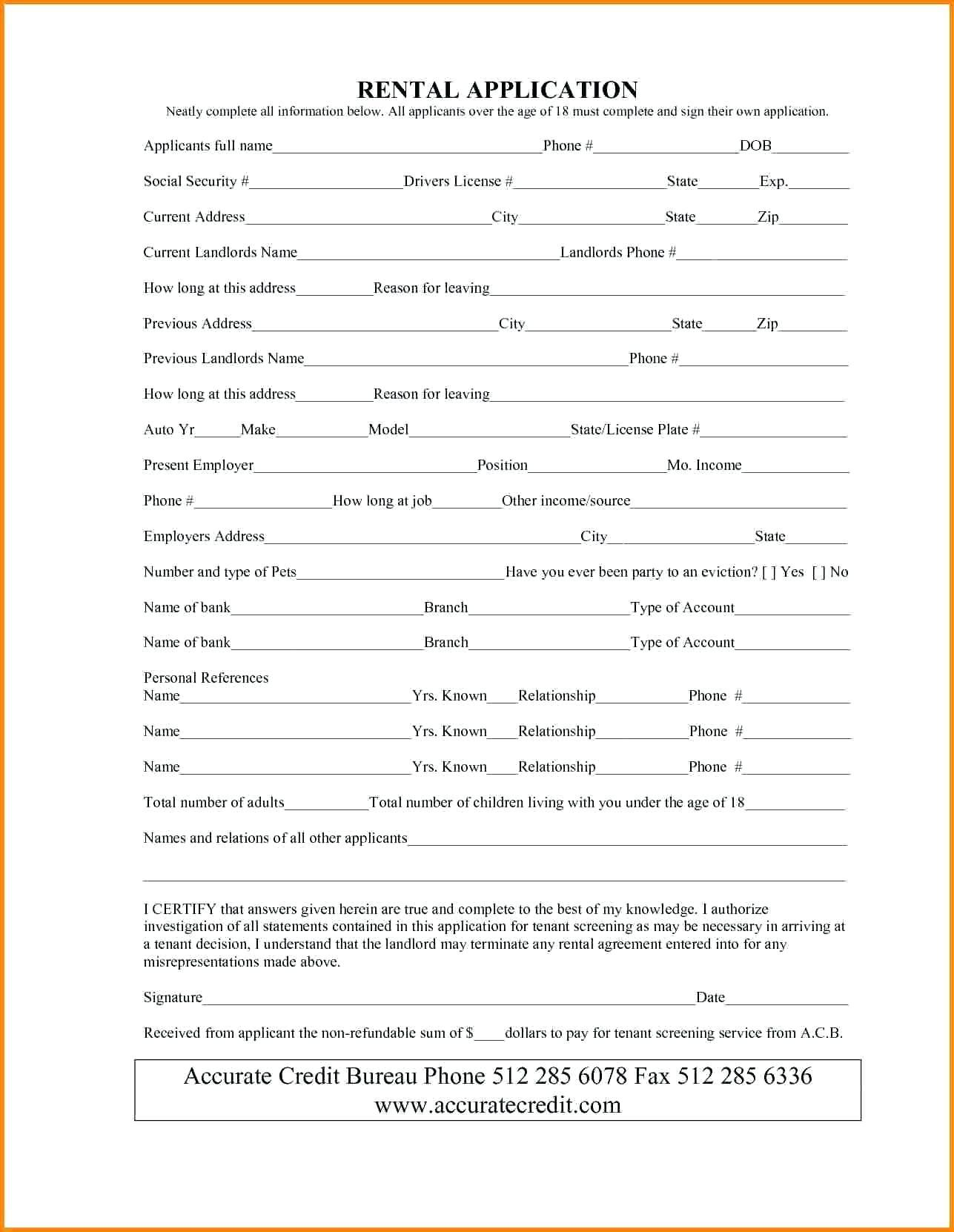 Contract Template For Renting A Room