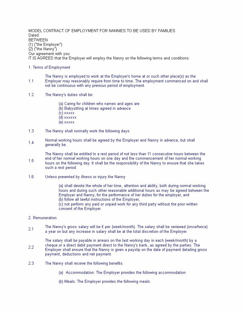 Contract Worker Contract Template