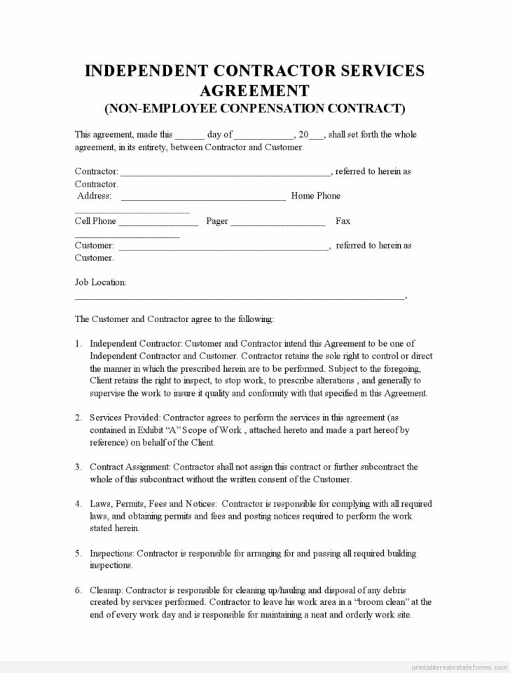 Contractor Agreement Template Nsw