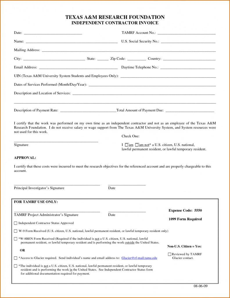 Contractor Billing Template Excel Free