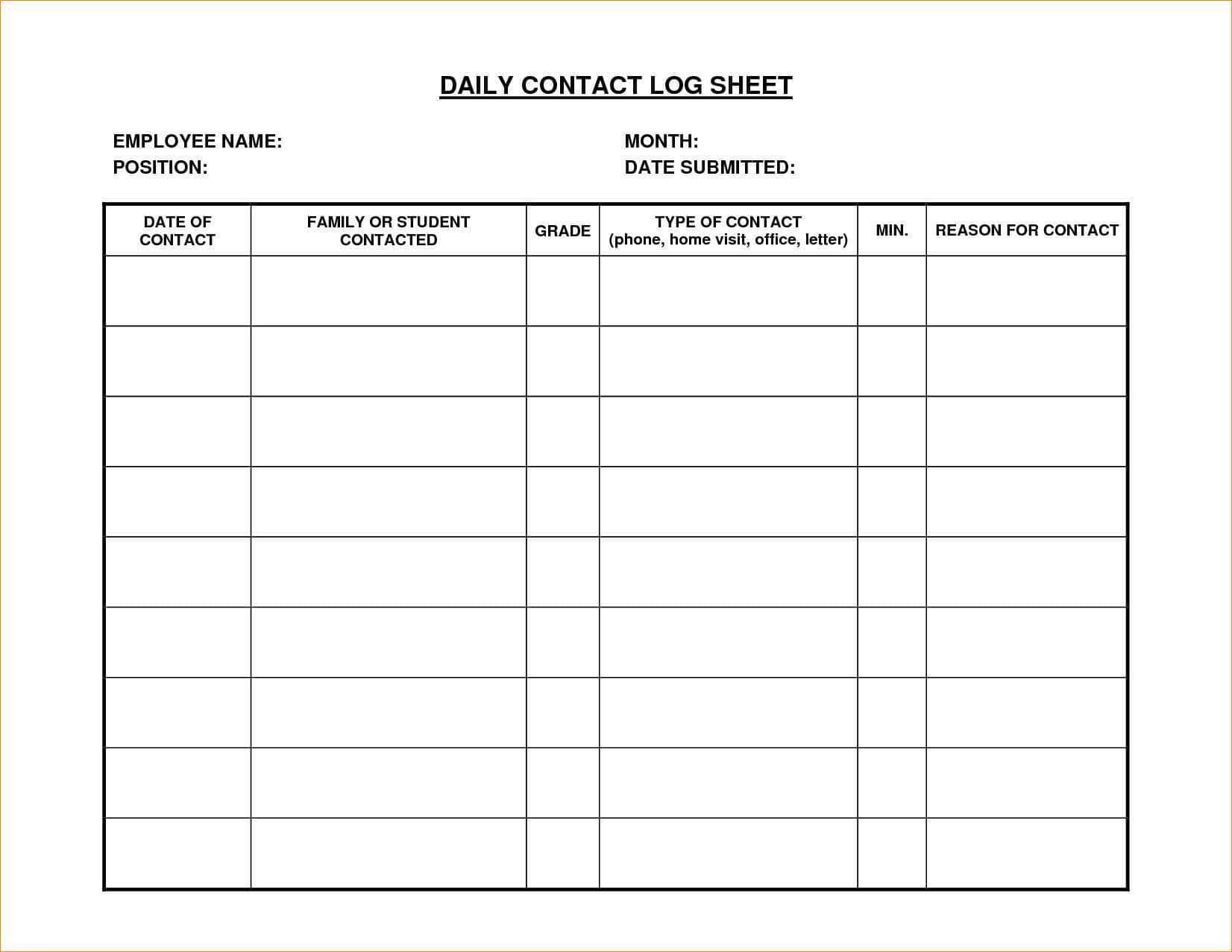 Contractor Timesheet Template Xls
