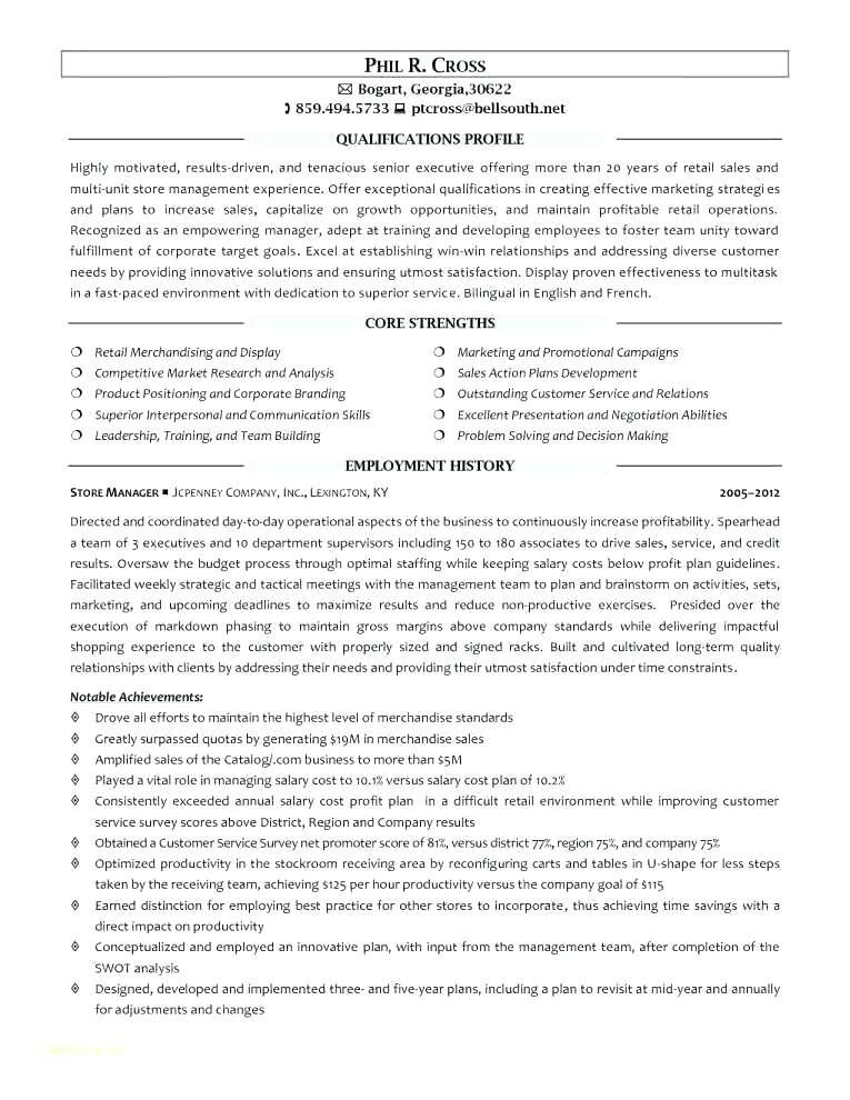 Convenience Store Manager Resume Sample