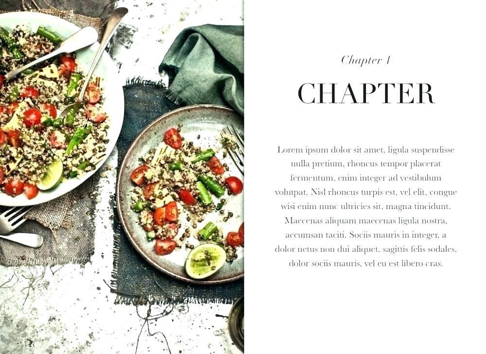 Cookbook Layout Template