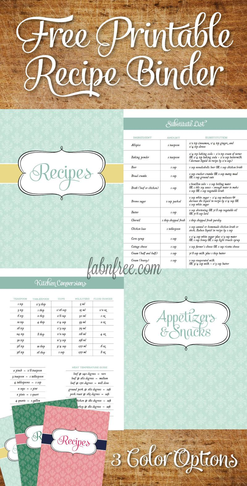Cookbook Template Download