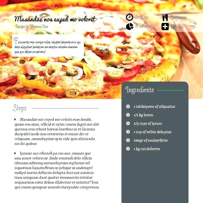 Cookbook Template For Mac Word