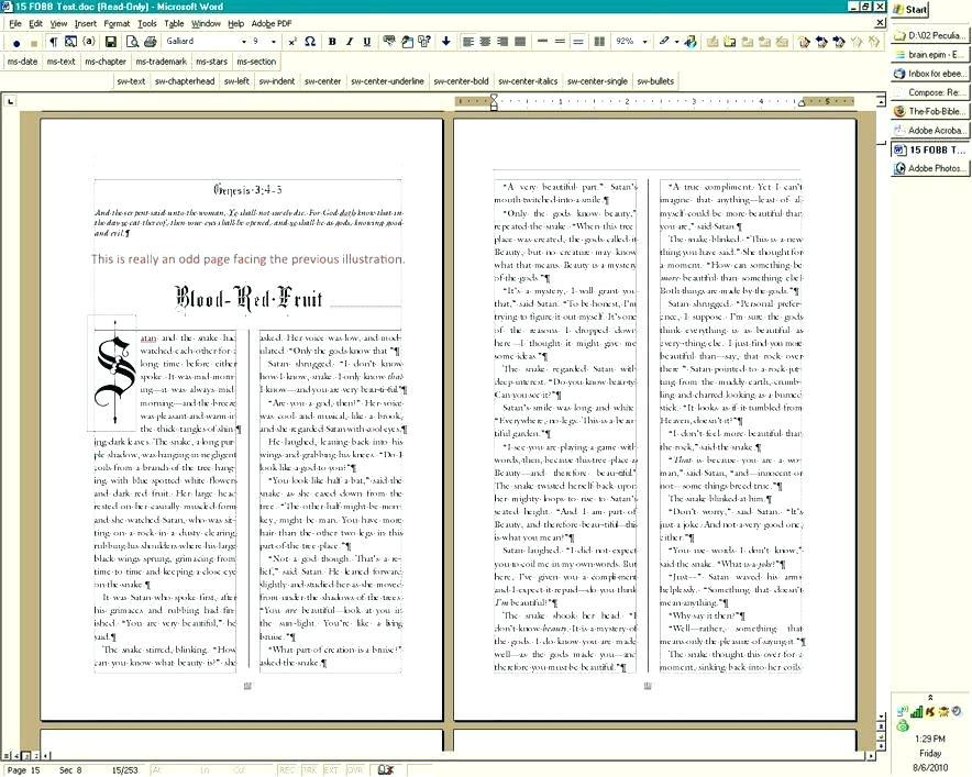 Cookbook Template For Microsoft Word 2016