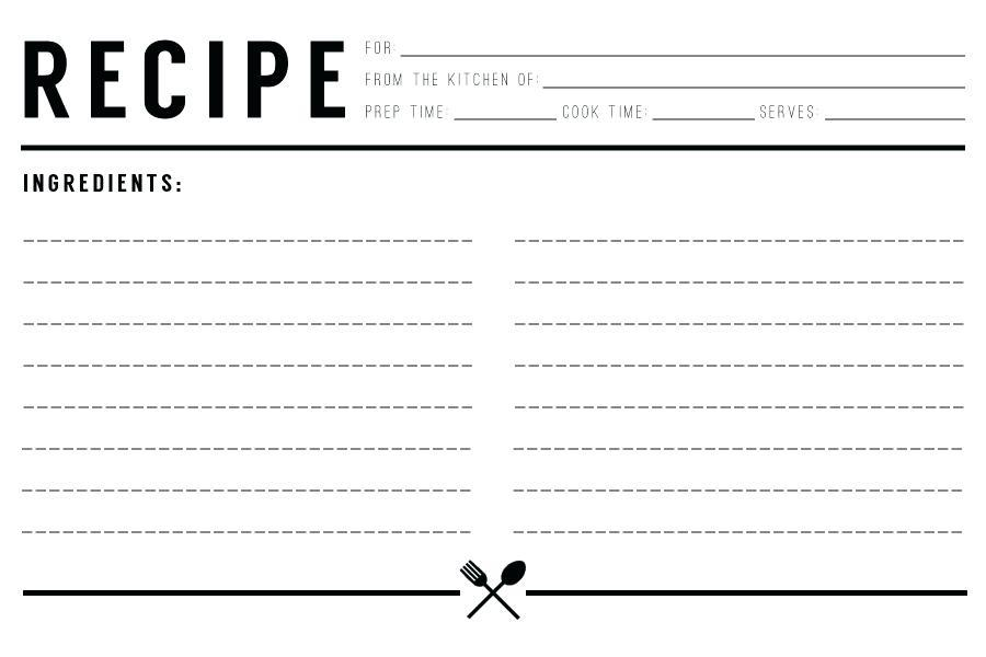 Cookbook Template Pages Free