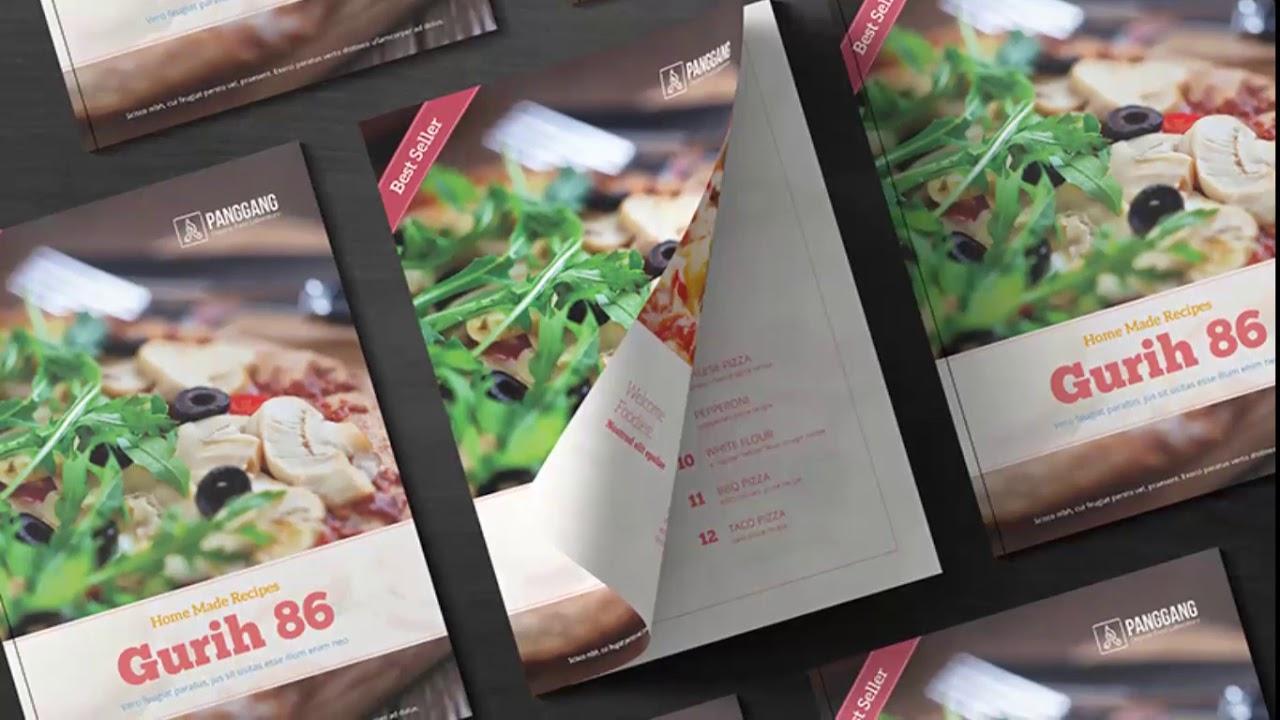 Cookbook Template Photoshop