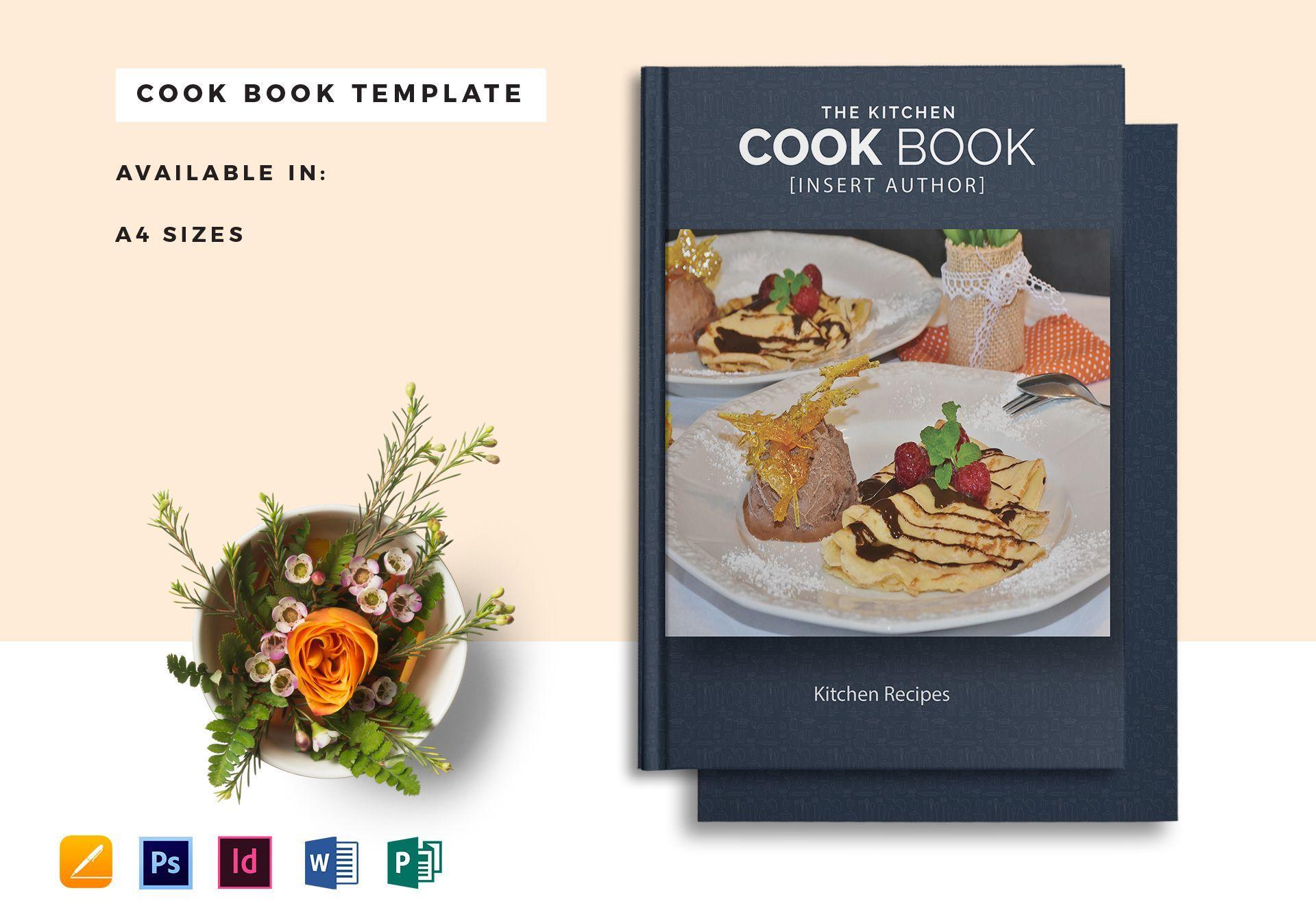Cookbook Template Psd