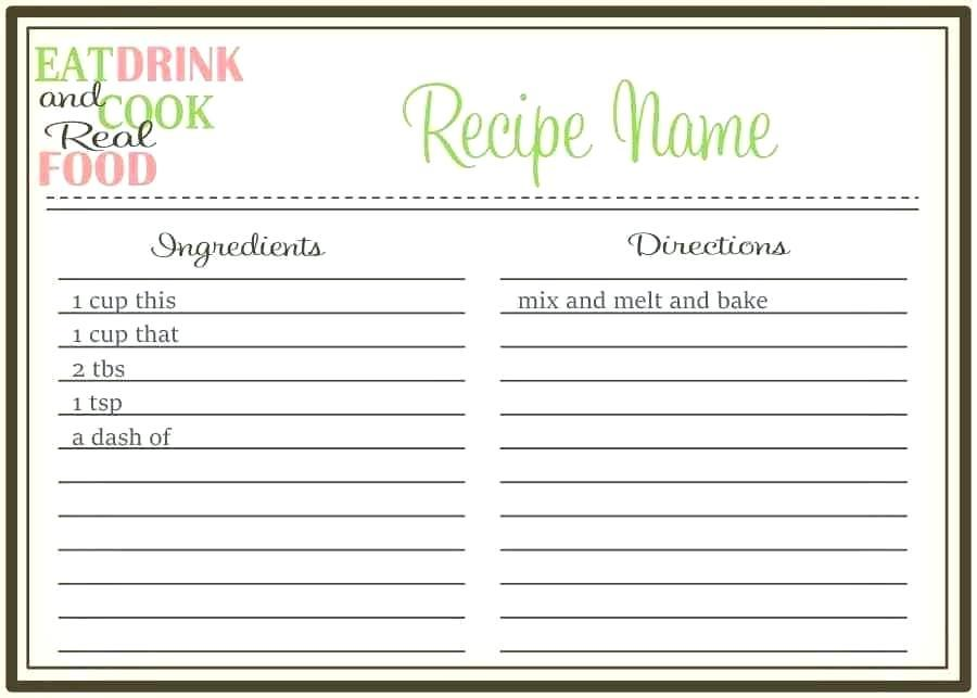 Cookbook Template Software