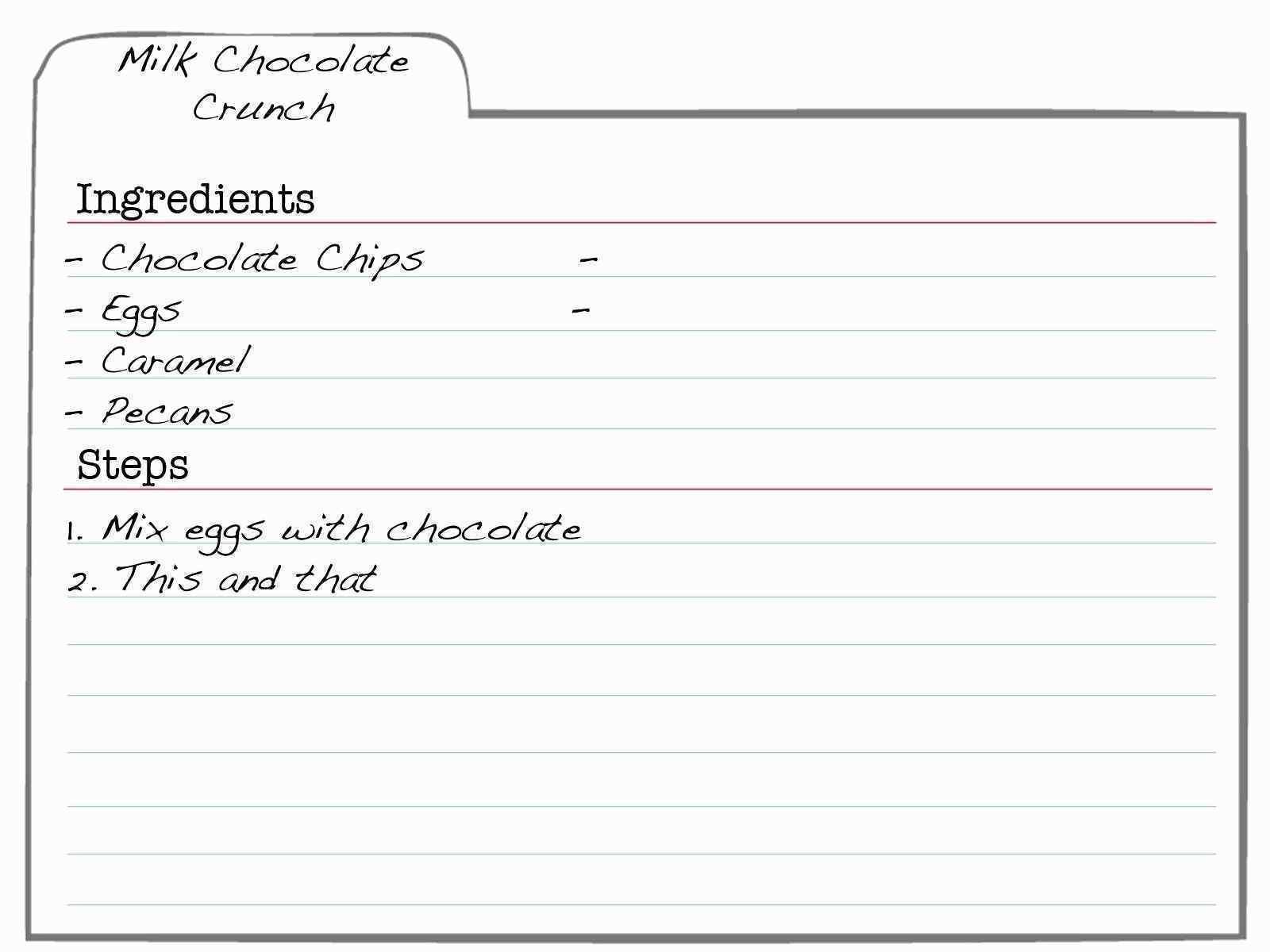 Cookbook Templates For Mac