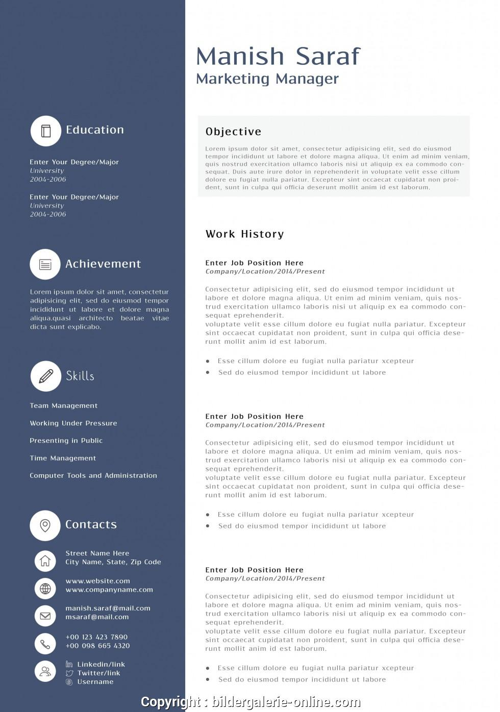 Cool Marketing Resume Templates