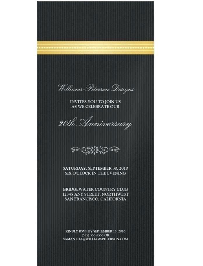 Corporate Anniversary Invitation Templates Free
