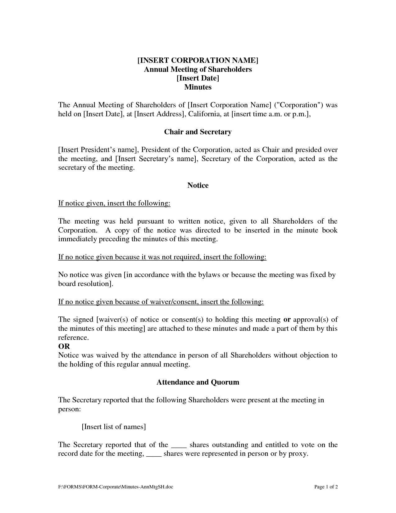 Corporate Authorization Resolution Template