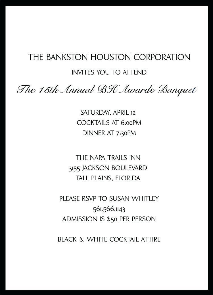 Corporate Cocktail Invitation Template