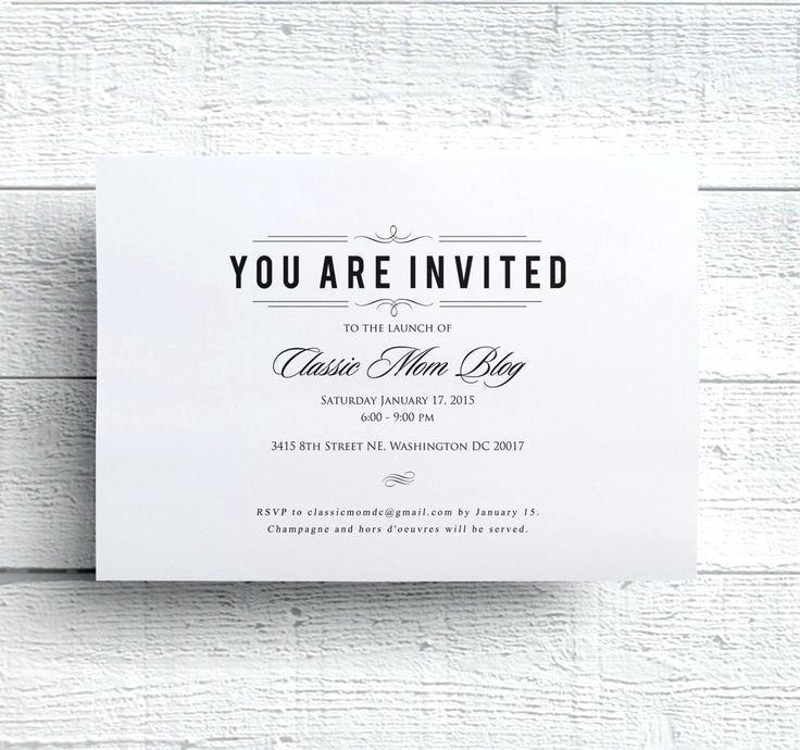 Corporate Dinner Invitation Sample