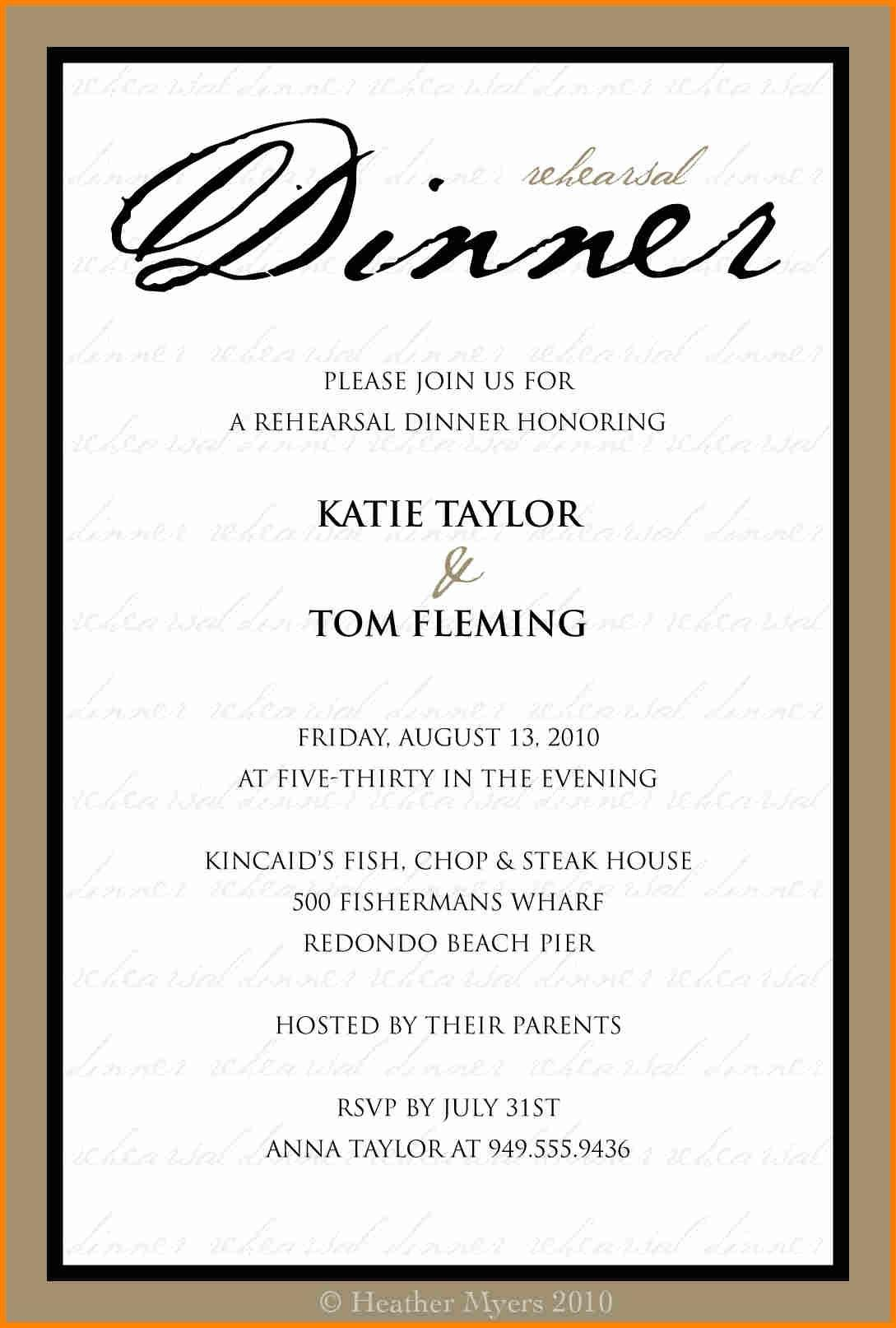 Corporate Dinner Invitation Wording Ideas